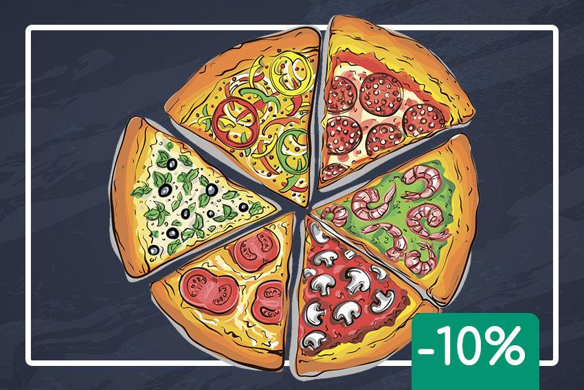 Забери свою піцу сам -10% знижка